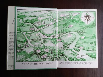front paste down and end paper in a 1960 Golden Anniversary Edition of The Wind in the Willows by Kenneth Grahame