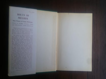 front paste down and endpaper in a 1945 First Edition of Bolts of Melody by Emily Dickinson