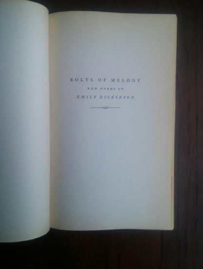 half title page in a 1945 First Edition of Bolts of Melody by Emily Dickinson