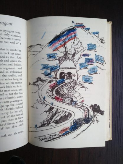 illustration coloured on in a 1963 copy of Poo-Poo and the Dragons by C.S Forester, 4th impression