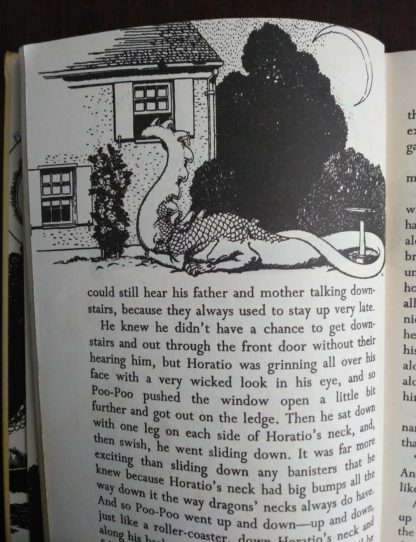 illustration on oage 30 in a 1963 copy of Poo-Poo and the Dragons by C.S Forester, 4th impression