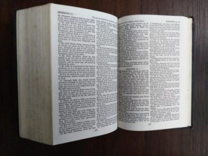 inside a 200-year-old Bible, published in 1812 by the American Bible Society