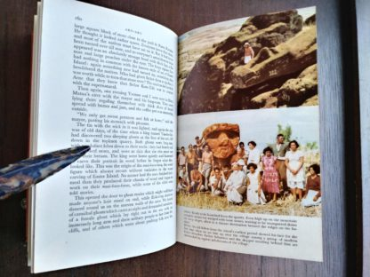 page 160 and 161 in a 1958 First Edition of Aku-Aku, The Secret Of Easter Island
