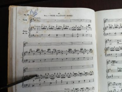 page 66 in a copy of Samson, an Oratorio in Vocal Score, composed in 1742, by Handel