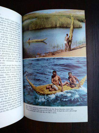 photograph of native swimmers in a 1958 First Edition of Aku-Aku, The Secret Of Easter Island