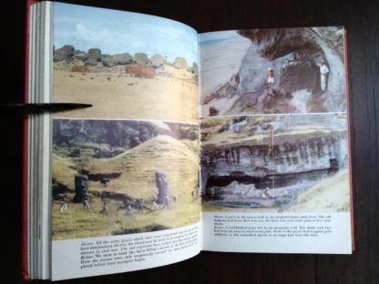 photographs in a 1958 First Edition of Aku-Aku, The Secret Of Easter Island