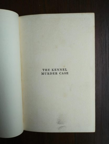 pre title page in a 1933 copy of The Kennel Murder Case by S. S. Van Dine