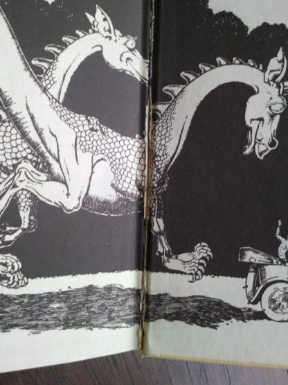 seam seperation between back endpaper and paste-down in a 1963 copy of Poo-Poo and the Dragons by C.S Forester, 4th impression