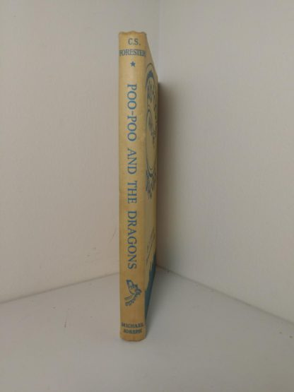 spine view of a 1963 copy of Poo-Poo and the Dragons by C.S Forester, 4th impression