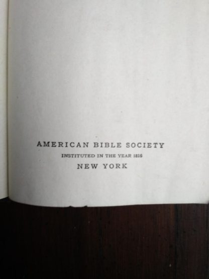 stated publication in a 200-year-old Bible, published in 1812 by the American Bible Society