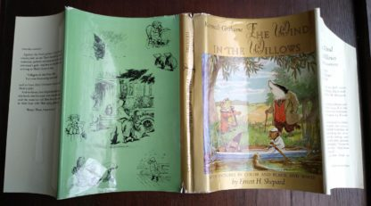 the dust jacket of a 1960 Golden Anniversary Edition of The Wind in the Willows by Kenneth Grahame