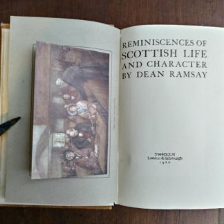 title page in a 1920 copy of Reminiscences of Scottish Life and Character by Dean Ramsay