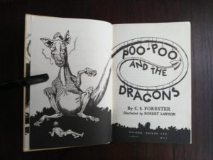 title page of a 1963, Poo-Poo and the Dragons by C.S Forester, 4th impression