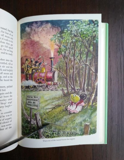 watercolour illustration by Ernest Shepard in a 1960 Golden Anniversary Edition of The Wind in the Willows by Kenneth Grahame
