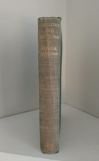 Spine view of a 1953 Swallows and Amazons by Arthur Ransome