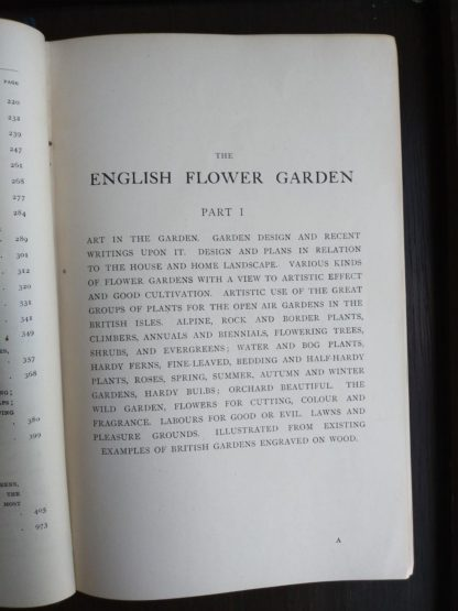 first page of part one in the book English Flower Garden by W. Robinson 1913 twelfth edition