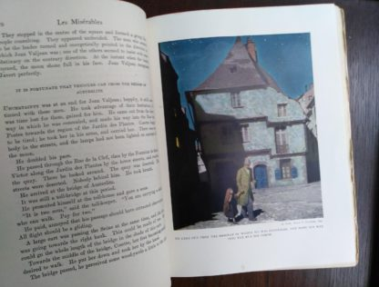 illustration in a copy of les Miserables illustrated by Mead Schaeffer published by Dodd Mead and Company