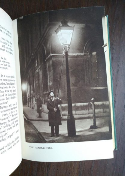 illustration of the lamplighter in a 1939 first edition copy of Ghosts of London by H.V. Morton