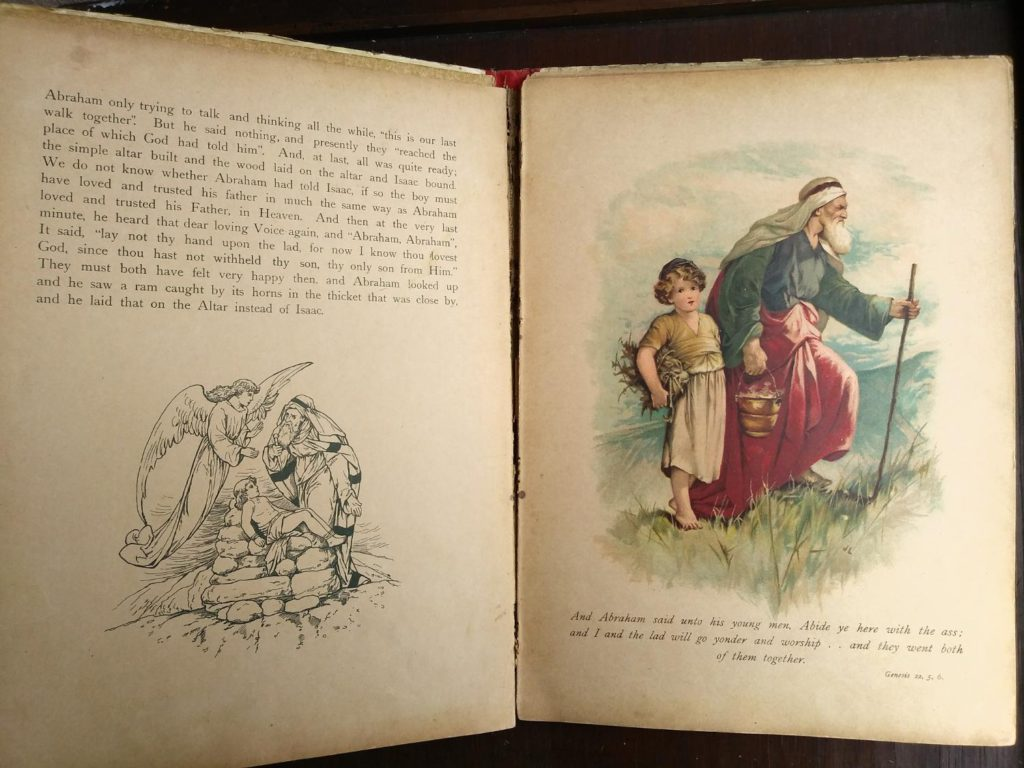 image of Abraham in Picture Stories from the Bible published by Raphael Tuck & Sons with chromolithograph illustrations by John Lawson