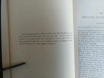 nice quote inside the book English Flower Garden by W. Robinson 1913 twelfth edition