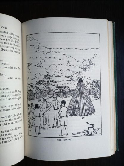picture called THE SERPENT in a 1953 copy of Swallows and Amazons by Arthur Ransome