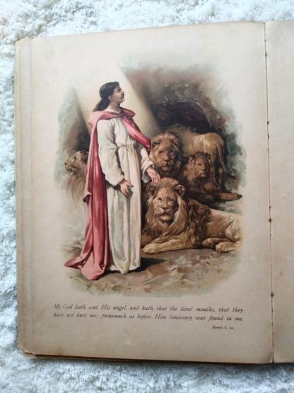 picture stories from the bible published by Raphael Tuck & Sons with beautiful chromolithograph illustrations by john lawson