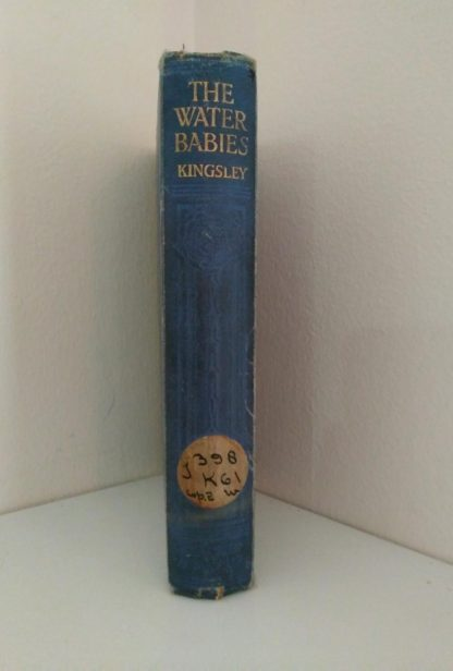 spine view of an undated copy of The Water-Babies by Charles Kingsley published by Blackie and Sons