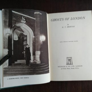 title page in a 1939 first edition copy of Ghosts of London by H.V. Morton
