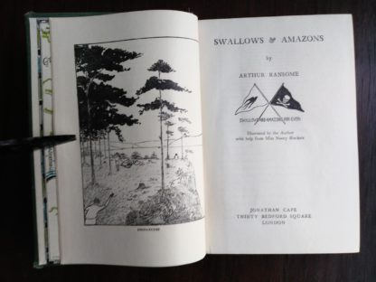 title page of a 1953 Swallows and Amazons by Arthur Ransome