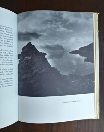 The Beach at Loch nan Uamh in a 1966 copy of The Prince in the Heather by Eric Linklater
