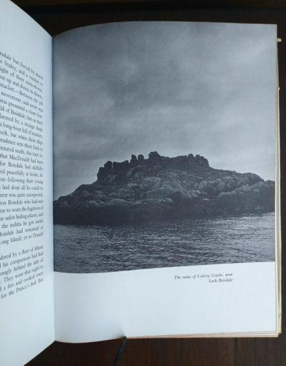 The ruins of Calvey Castle near Loch Boisdale in a 1966 copy of The Prince in the Heather by Eric Linklater