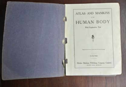 Vintage Anatomy Atlas of the Human Body Modern Medicine Publishing Company