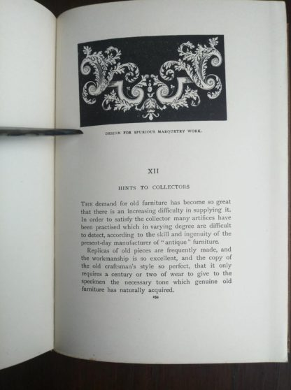 page 259 in a 1925 copy of Chats on Old Furniture by Arthur Hayden