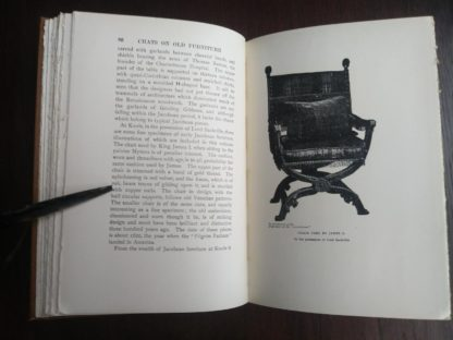 page 86 and 87 in a 1925 copy of Chats on Old Furniture by Arthur Hayden