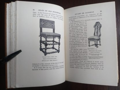 page 94 and 95 in a 1925 copy of Chats on Old Furniture by Arthur Hayden