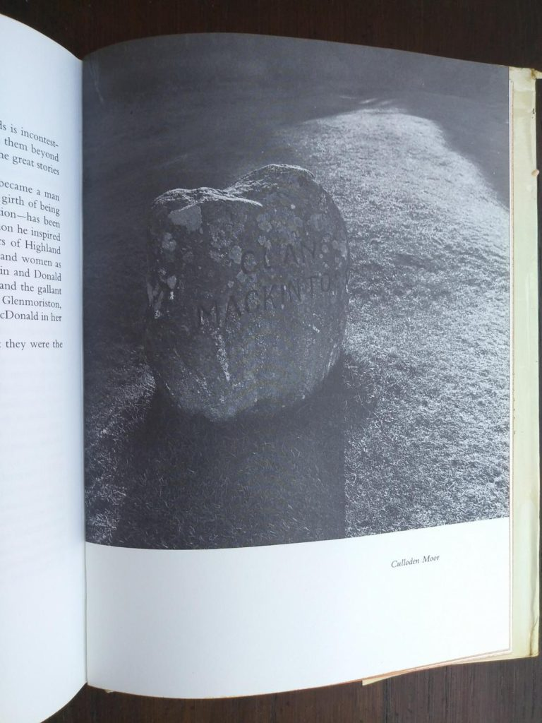 photograph of Culloden Moor in a 1966 copy of The Prince in the Heather by Eric Linklater