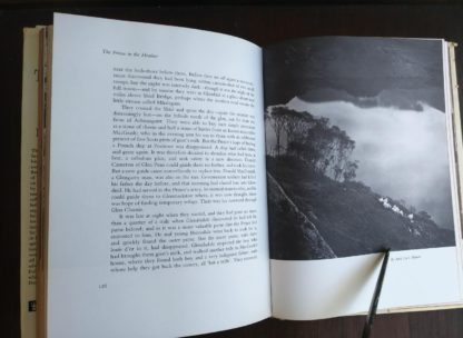 photograph of Loch Hourn in a 1966 copy of The Prince in the Heather by Eric Linklater