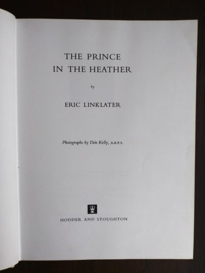 title page inside a 1966 copy of The Prince in the Heather by Eric Linklater