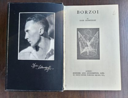 BORZOI by Igor Schwezoff first edition title page