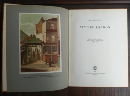 1942 Vintage London by John Betjeman first edition title page