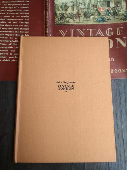 1942 Vintage London by John Betjeman front cover
