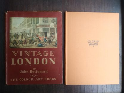 1942 Vintage London by John Betjeman front cover and dust jacket