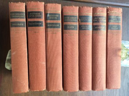 7 Volumes of Walter J. Black Classics Club Books 1932 - 1943