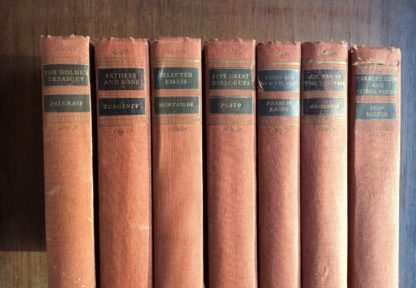 7 Volumes of Walter J. Black Classics Club Books 1932 - 1943 Spine View