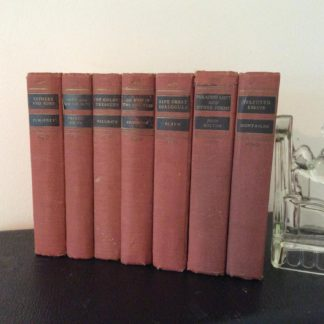 7 Volumes of Walter J. Black Classics Club Books published 1932 - 1943
