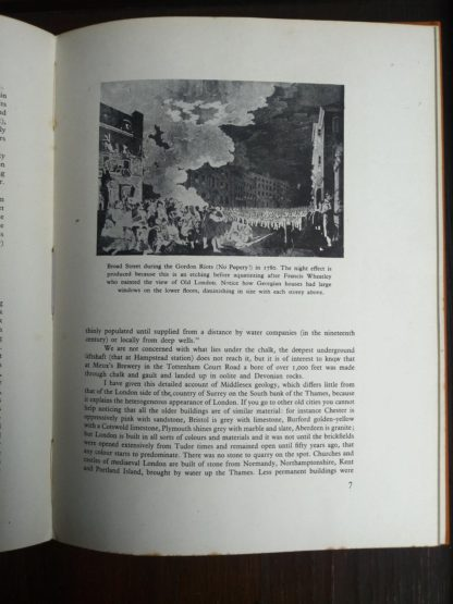Broad Street during the Gordon Riots in 1780 in a 1942 first edition copy of Vintage of London by John Betjeman