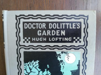Doctor Dolittles Garden by Hugh Lofting 1927 Eighth Impression front cover up close