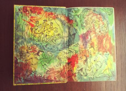 The Last of the Mohicans Rainbow Classics circa 1950s by James Fenimore Cooper endpaper and paste down