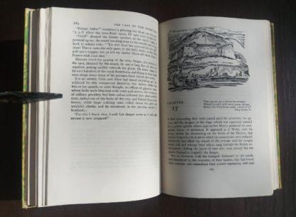 The Last of the Mohicans Rainbow Classics circa 1950s by James Fenimore Cooper page 184 and 185