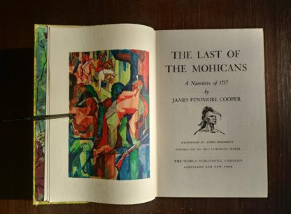 The Last of the Mohicans Rainbow Classics circa 1950s by James Fenimore Cooper title page